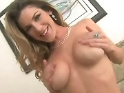 Kayla puts 2 dildos in her pussy